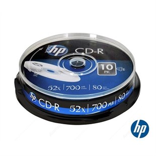 HP CD-R 52x 10Lu Cakebox