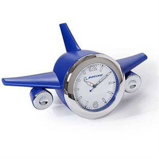 Airplane Desk Clock - Blue