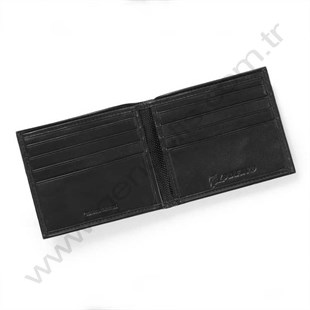 Nylon/Nappa Leather Bifold Wallet