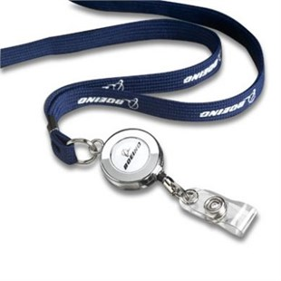 Printed Badge Lanyard Navy