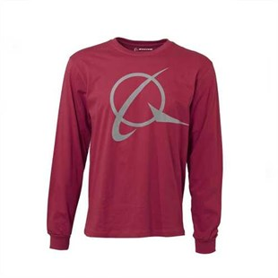Symbol Long-Sleeved T-Shirt Red